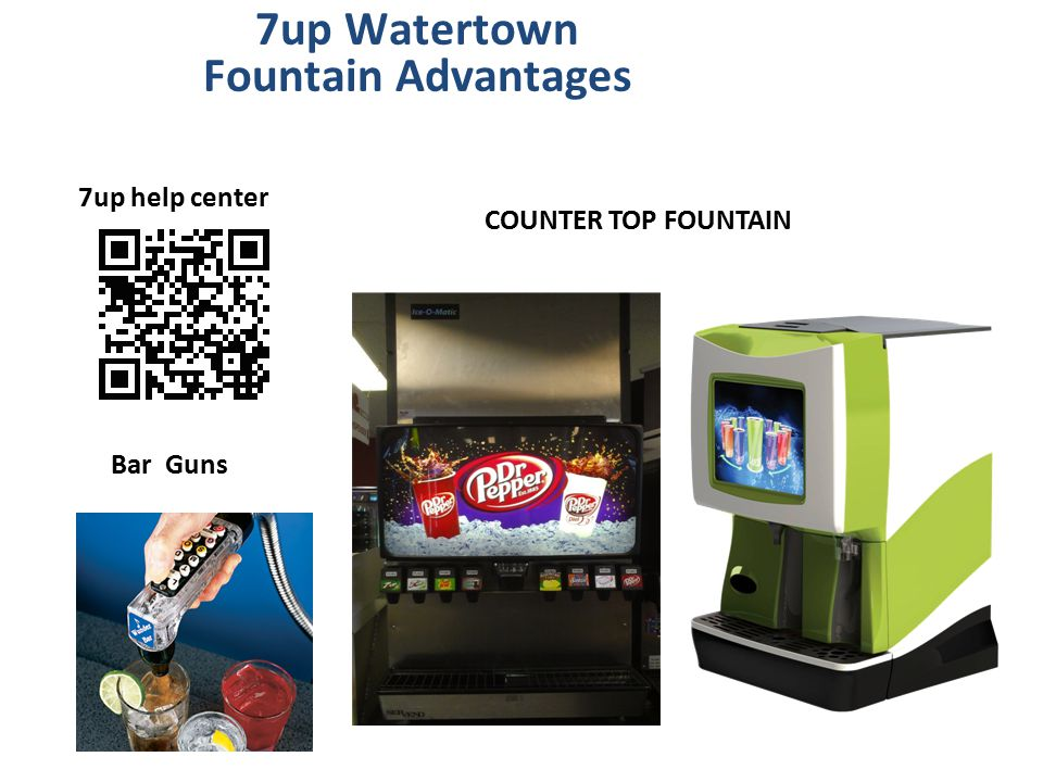 7up Watertown Fountain Advantages 7up help center COUNTER TOP FOUNTAIN