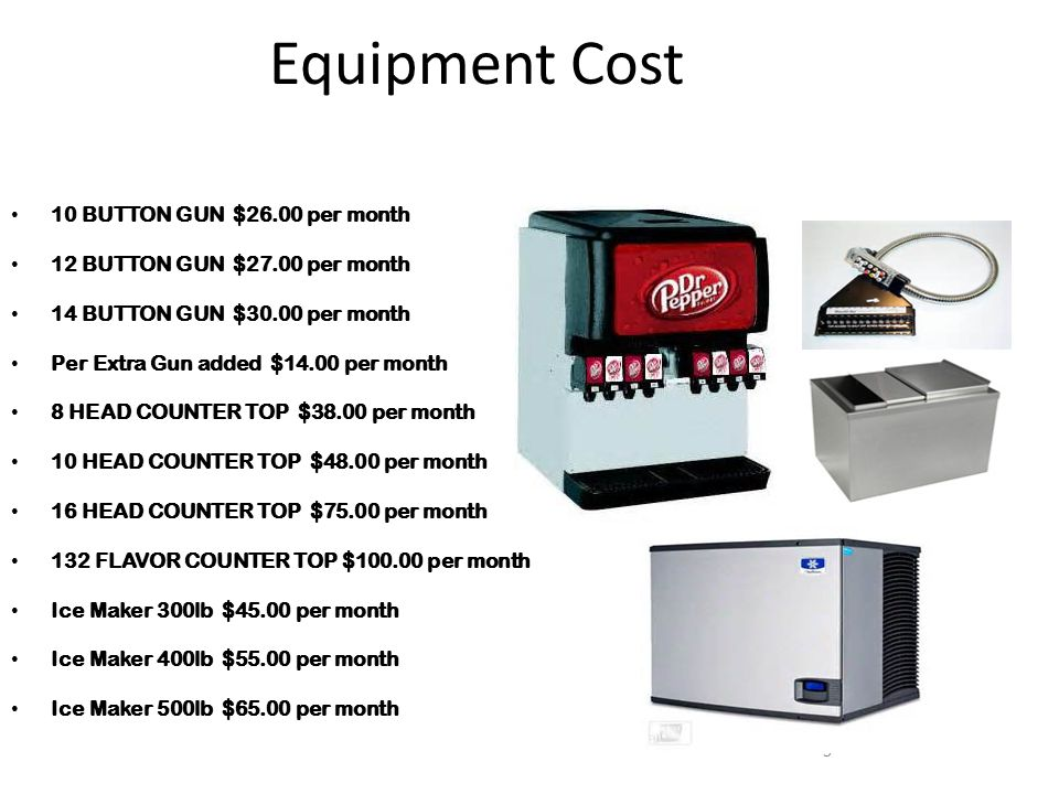 Equipment Cost 10 BUTTON GUN $26.00 per month