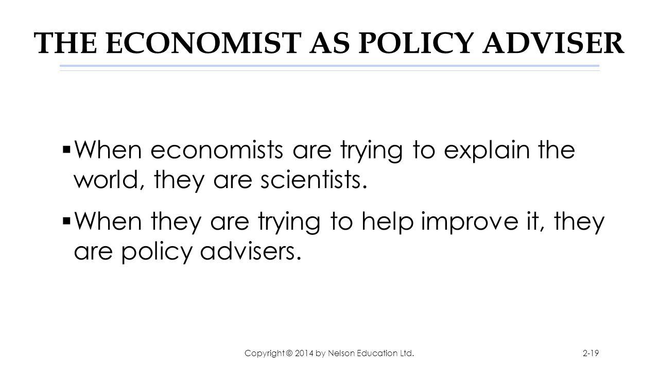 THE ECONOMIST AS POLICY ADVISER