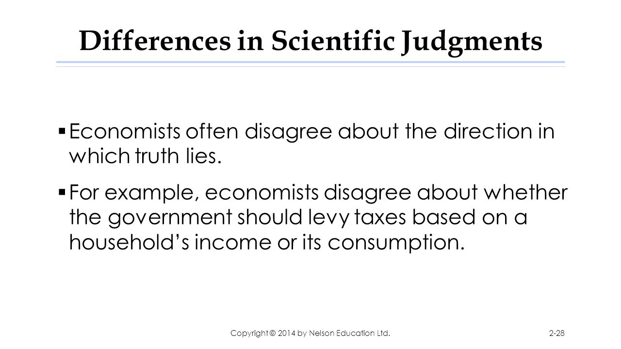 Differences in Scientific Judgments