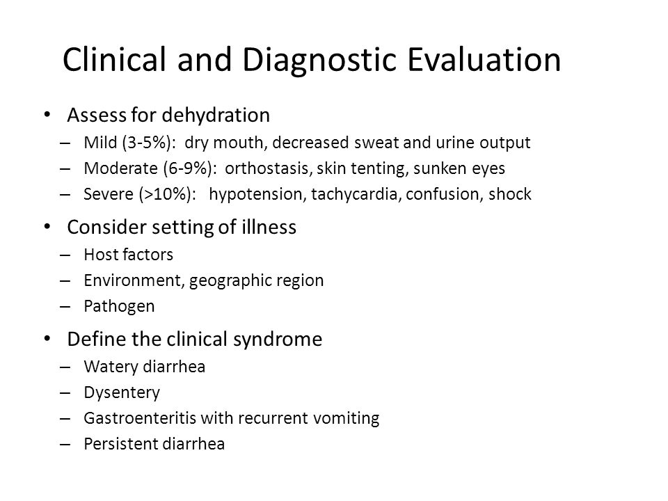 Clinical and Diagnostic Evaluation
