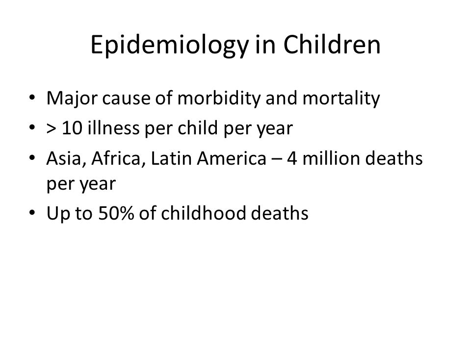 Epidemiology in Children