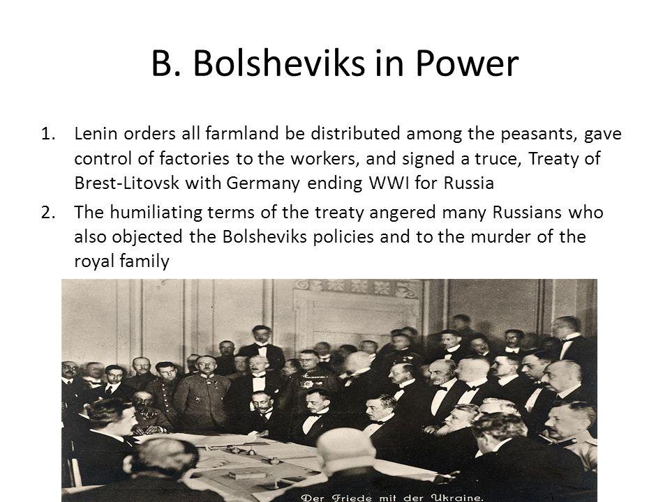 B. Bolsheviks in Power