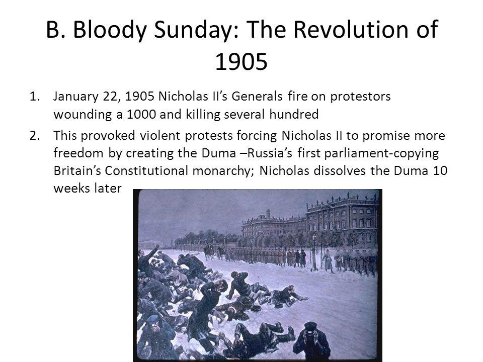B. Bloody Sunday: The Revolution of 1905
