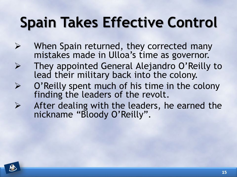 Spain Takes Effective Control