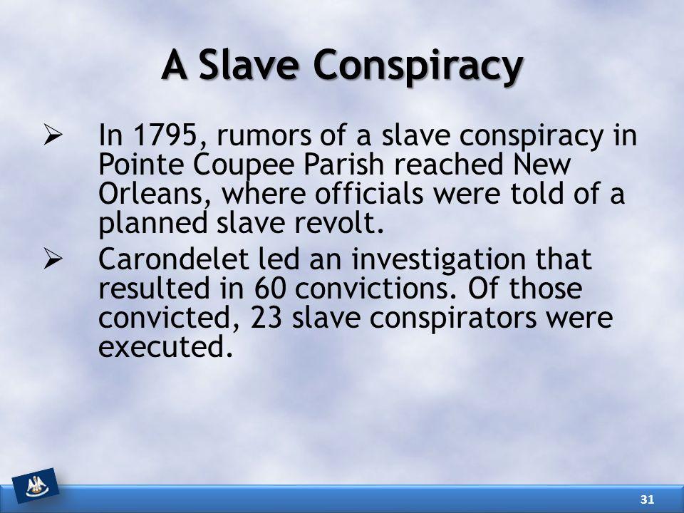 A Slave Conspiracy