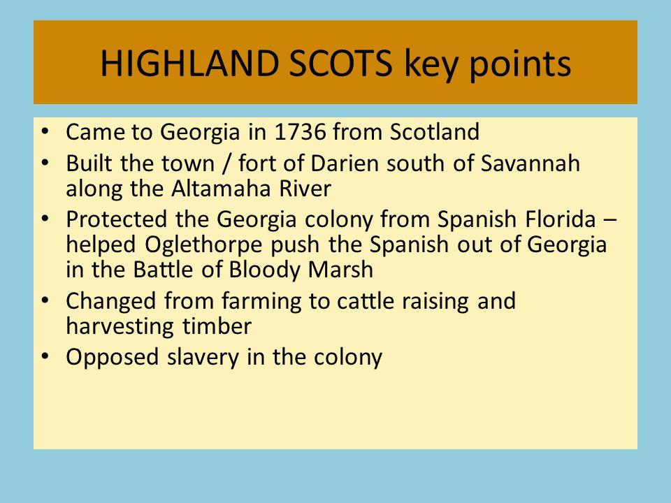 HIGHLAND SCOTS key points