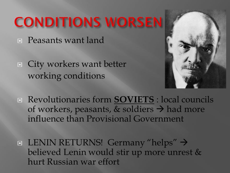 CONDITIONS WORSEN Peasants want land City workers want better