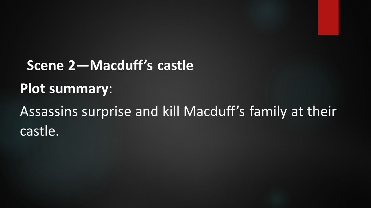 Scene 2—Macduff's castle