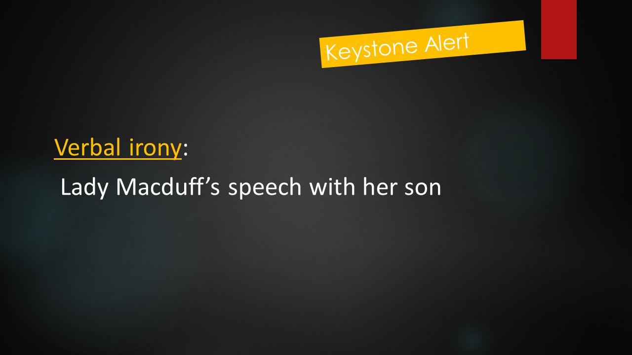 Lady Macduff's speech with her son