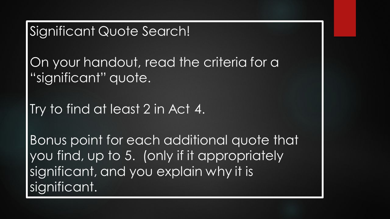 Significant Quote Search!