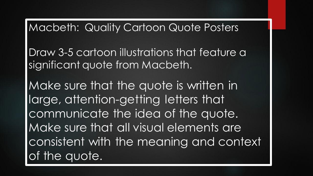 Macbeth: Quality Cartoon Quote Posters