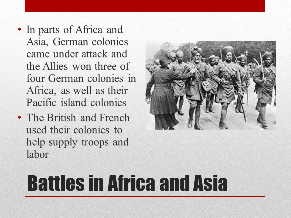 Battles in Africa and Asia
