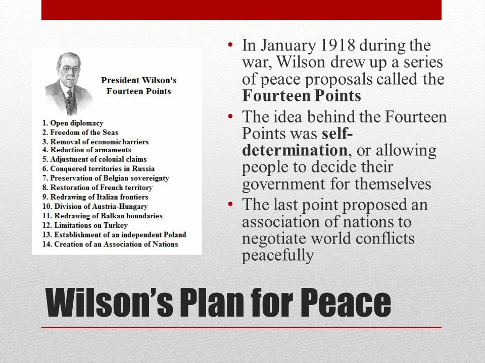 Wilson's Plan for Peace