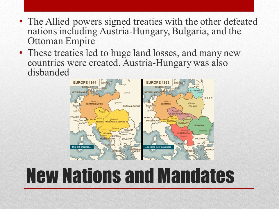 New Nations and Mandates