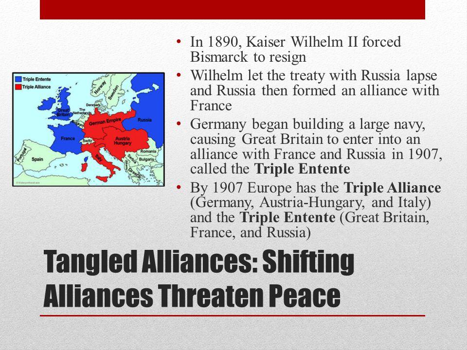 Tangled Alliances: Shifting Alliances Threaten Peace
