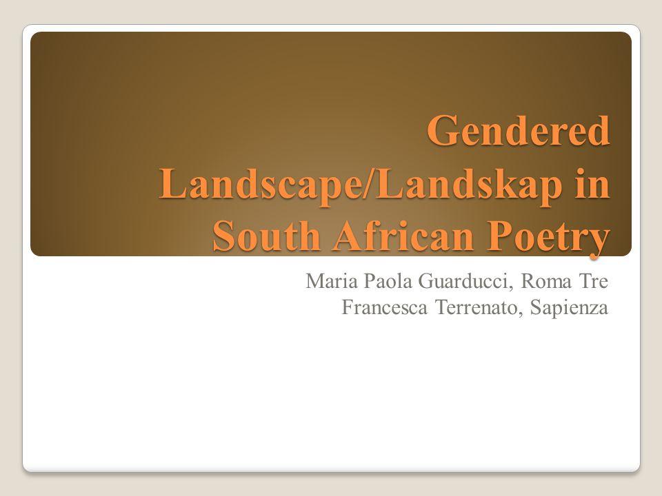 Gendered Landscape/Landskap in South African Poetry