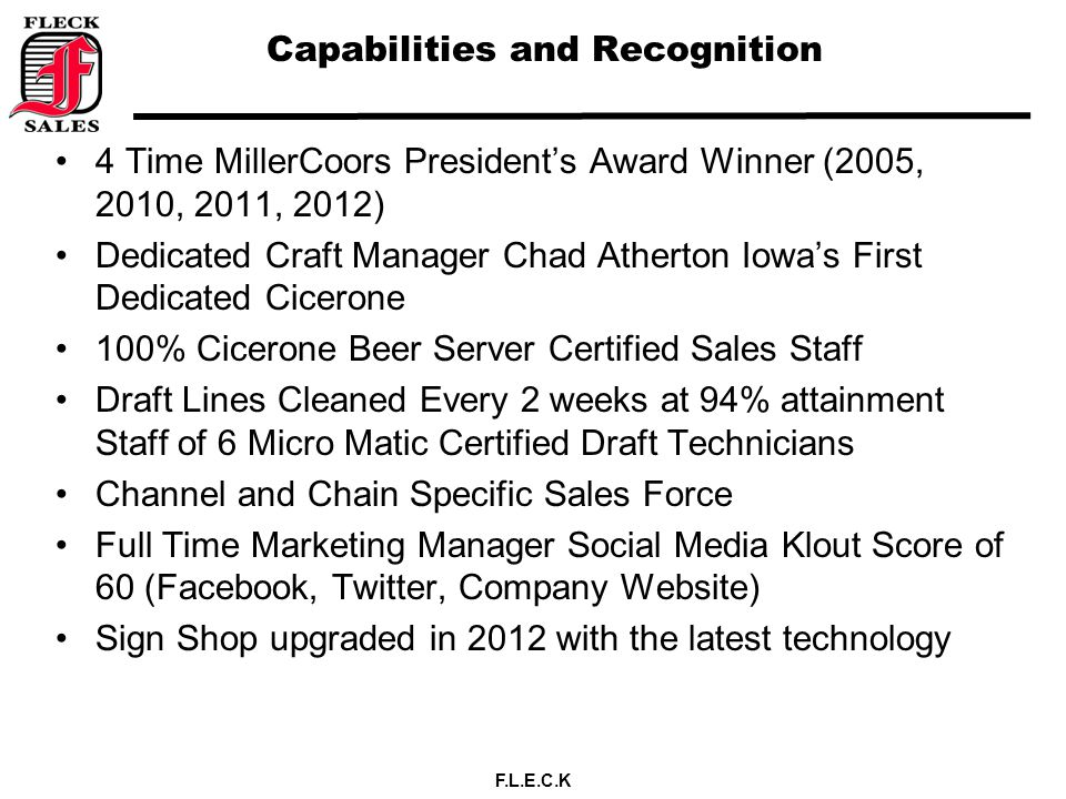 Capabilities and Recognition