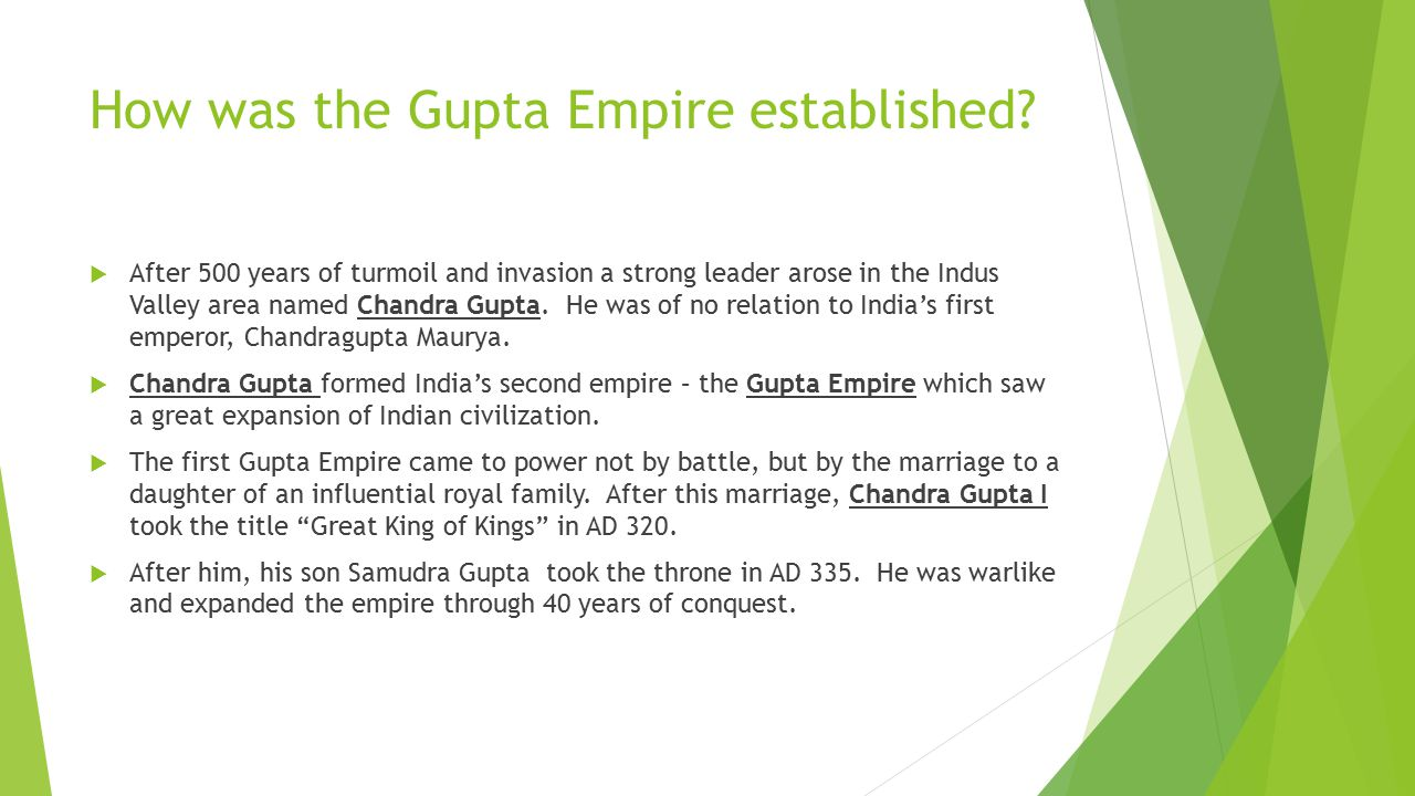 How was the Gupta Empire established