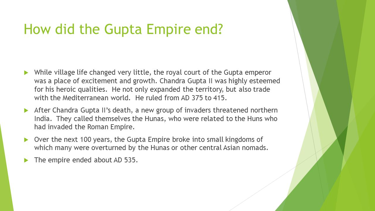 How did the Gupta Empire end