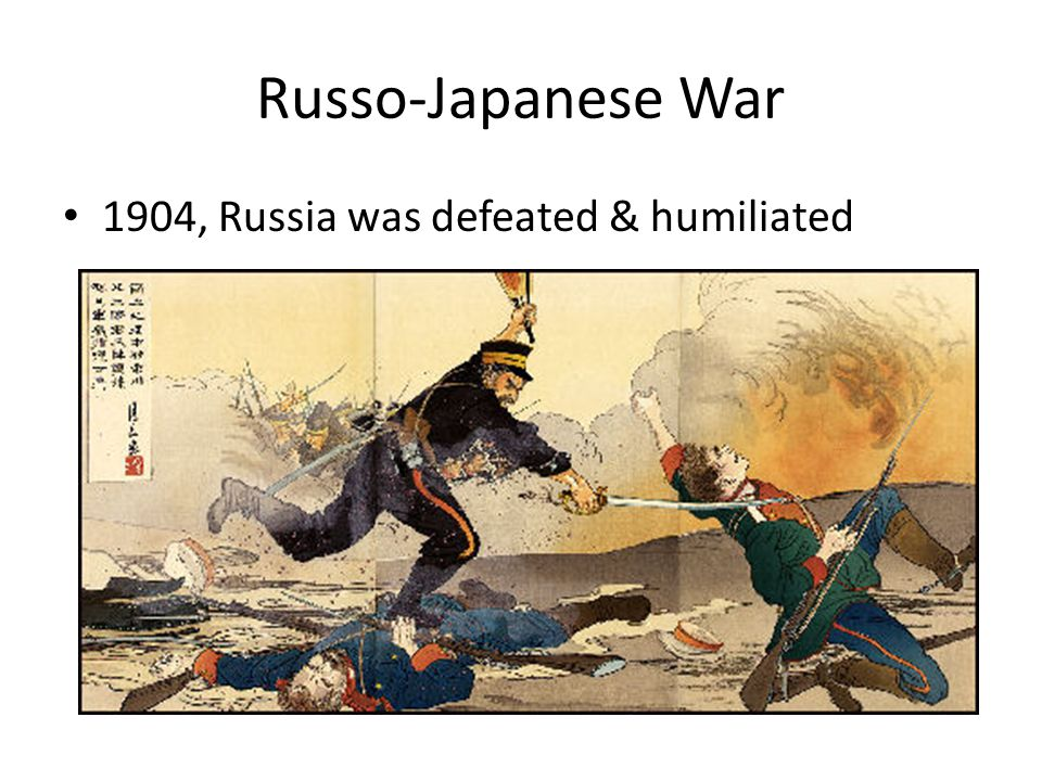 Russo-Japanese War 1904, Russia was defeated & humiliated