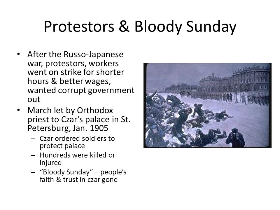 Protestors & Bloody Sunday
