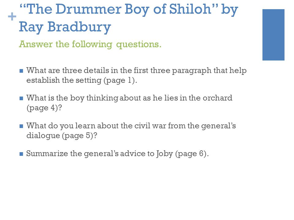 The Drummer Boy of Shiloh by Ray Bradbury