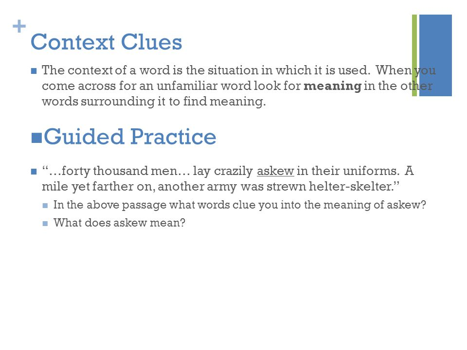 Context Clues Guided Practice