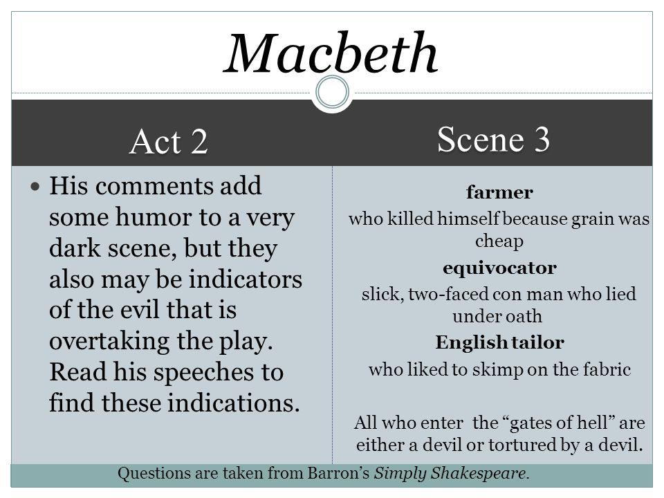 Macbeth Scene 3. Act 2.