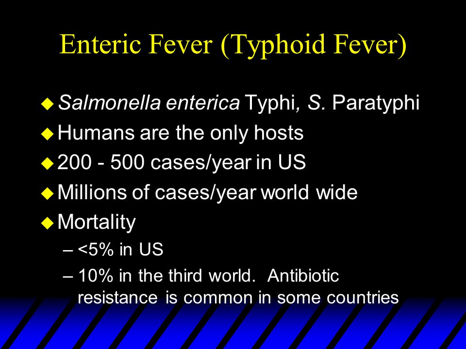 Enteric Fever (Typhoid Fever)