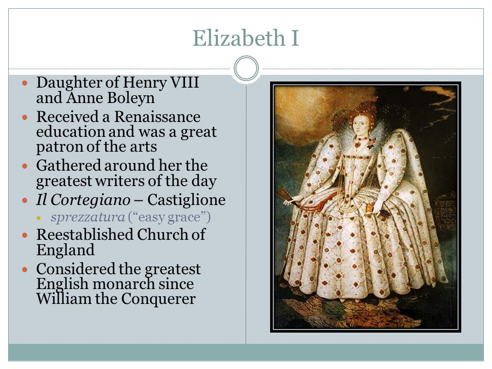 Elizabeth I Daughter of Henry VIII and Anne Boleyn