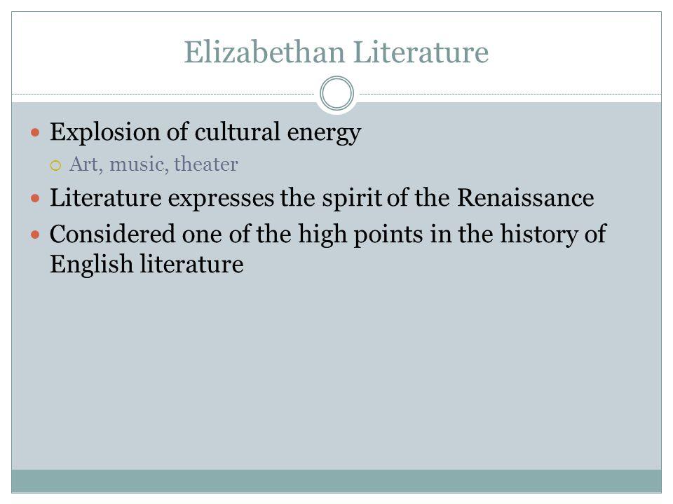 Elizabethan Literature