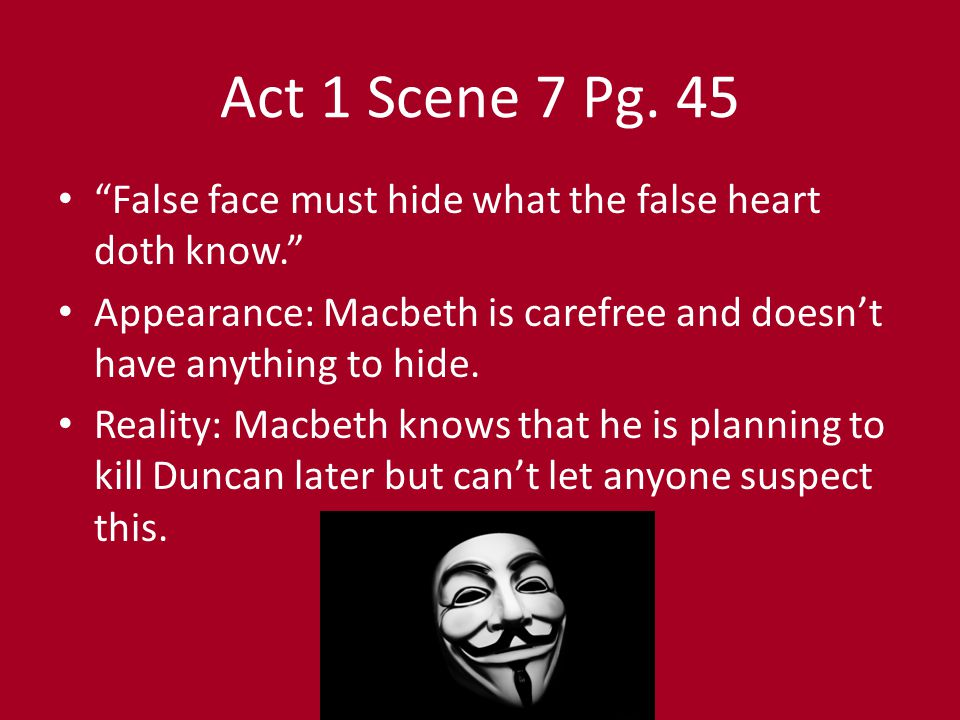 Appearance vs. Reality in Macbeth