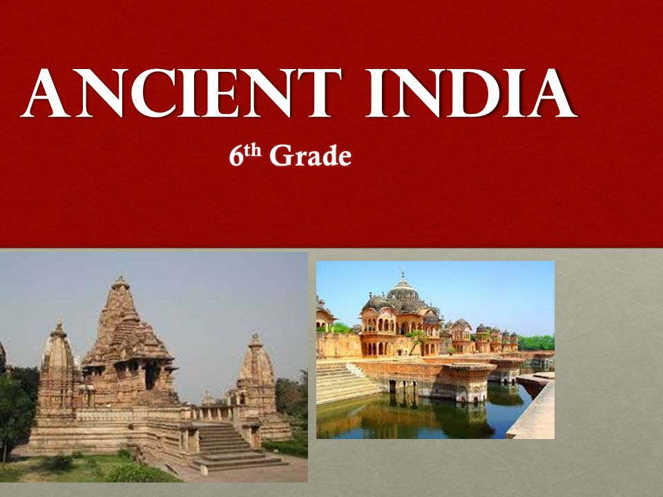 Ancient India 6th Grade