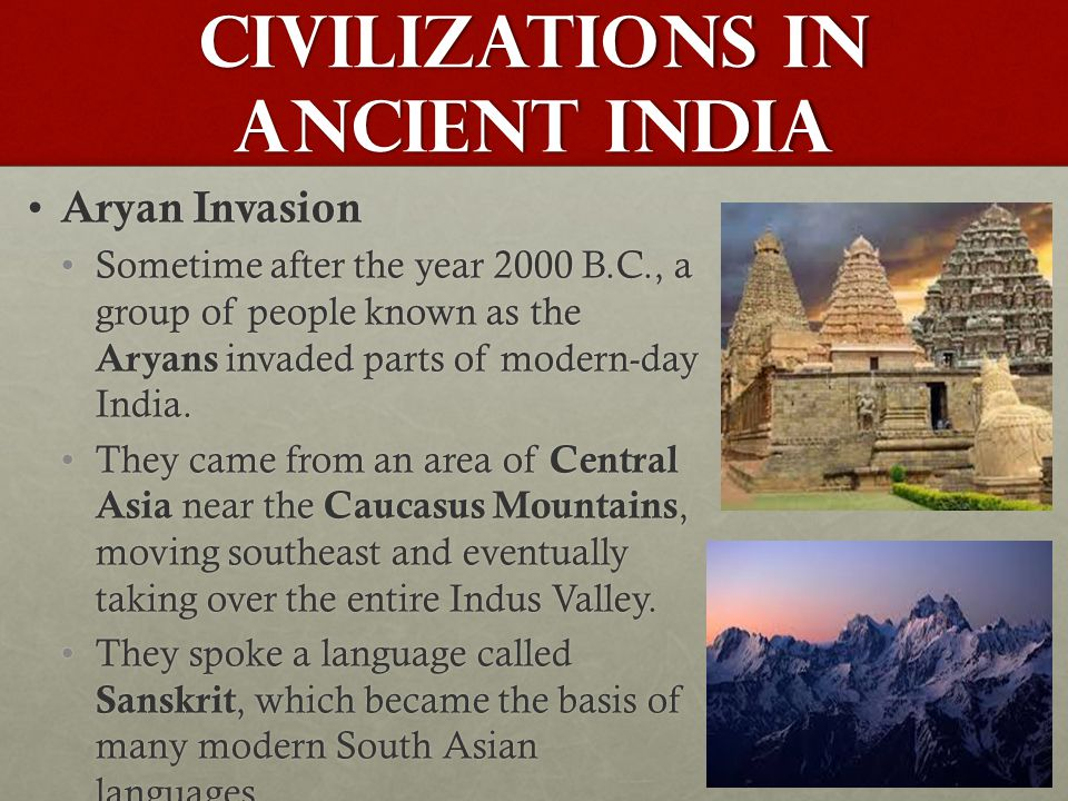 Civilizations in Ancient India