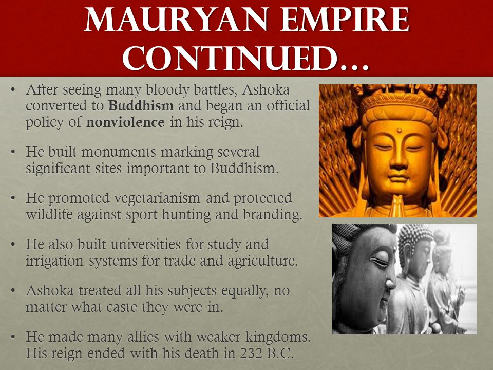 Mauryan Empire continued…