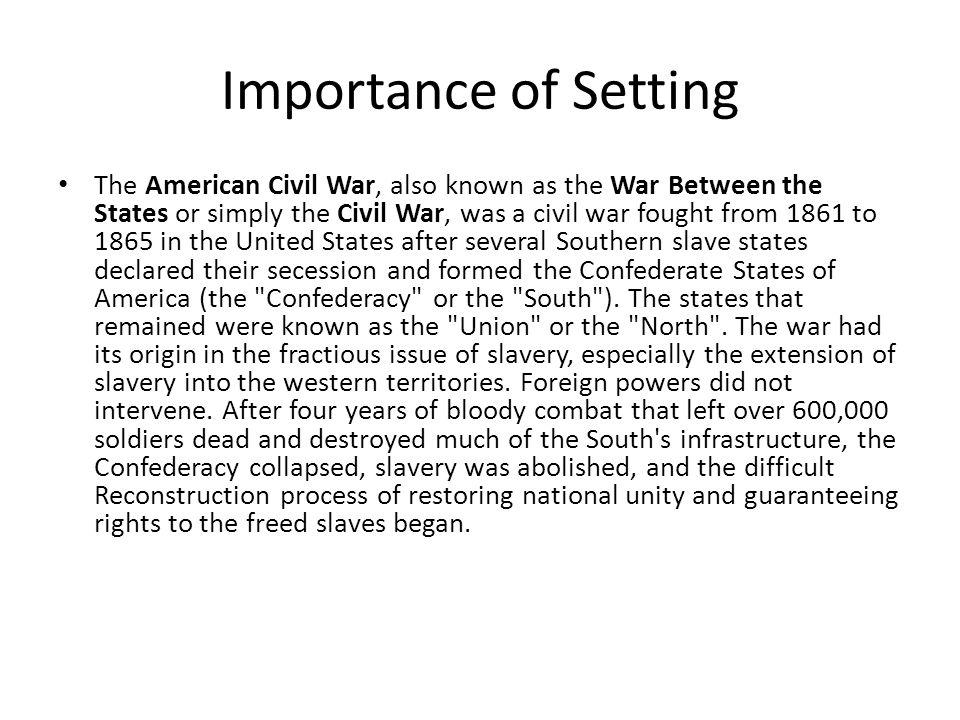 Importance of Setting