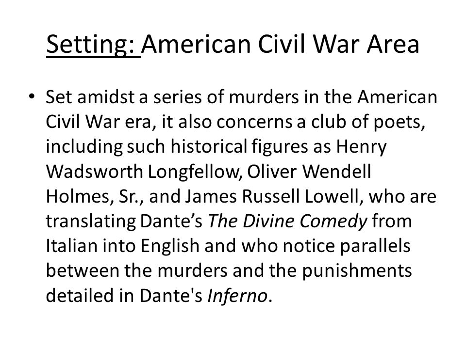Setting: American Civil War Area