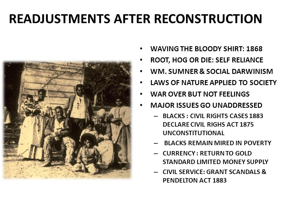 READJUSTMENTS AFTER RECONSTRUCTION