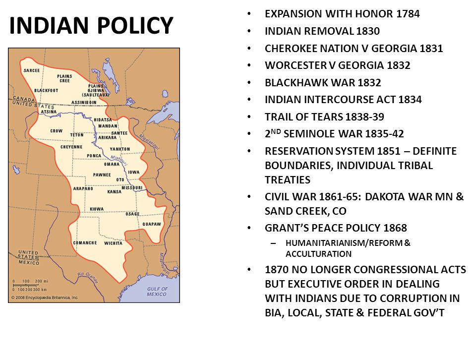 INDIAN POLICY EXPANSION WITH HONOR 1784 INDIAN REMOVAL 1830