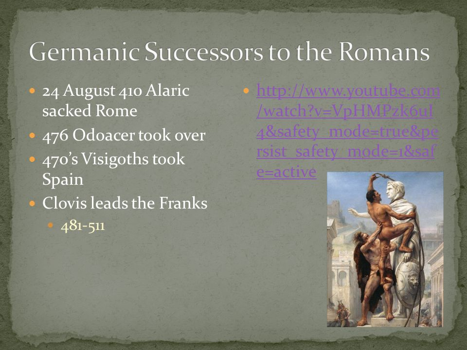 Germanic Successors to the Romans