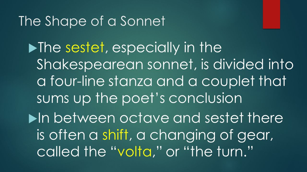 The Shape of a Sonnet