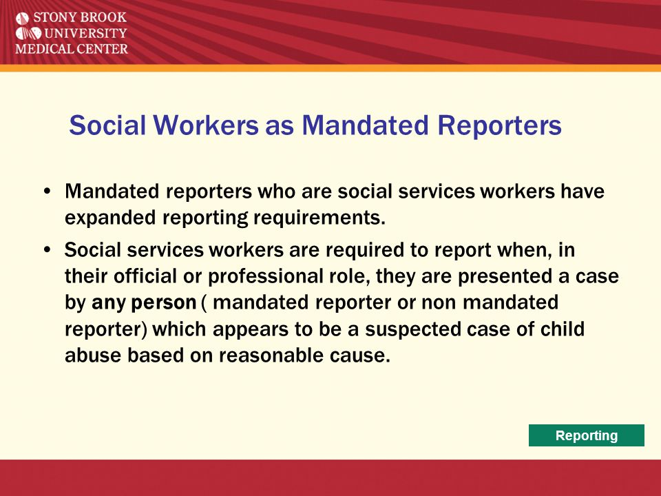 Social Workers as Mandated Reporters