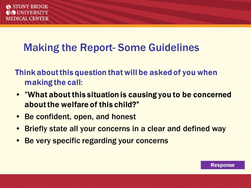 Making the Report- Some Guidelines