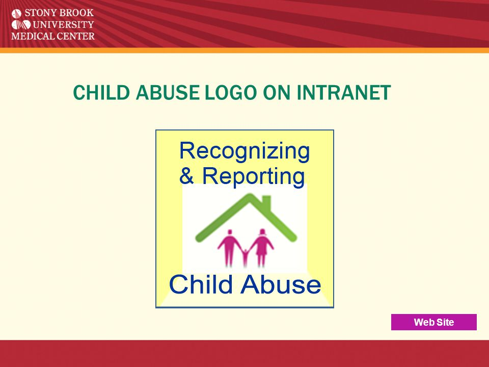 CHILD ABUSE LOGO ON INTRANET