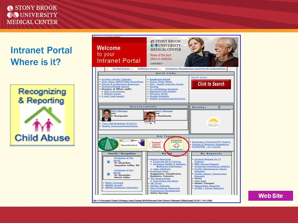 Intranet Portal Where is it