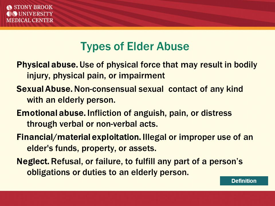 Types of Elder Abuse