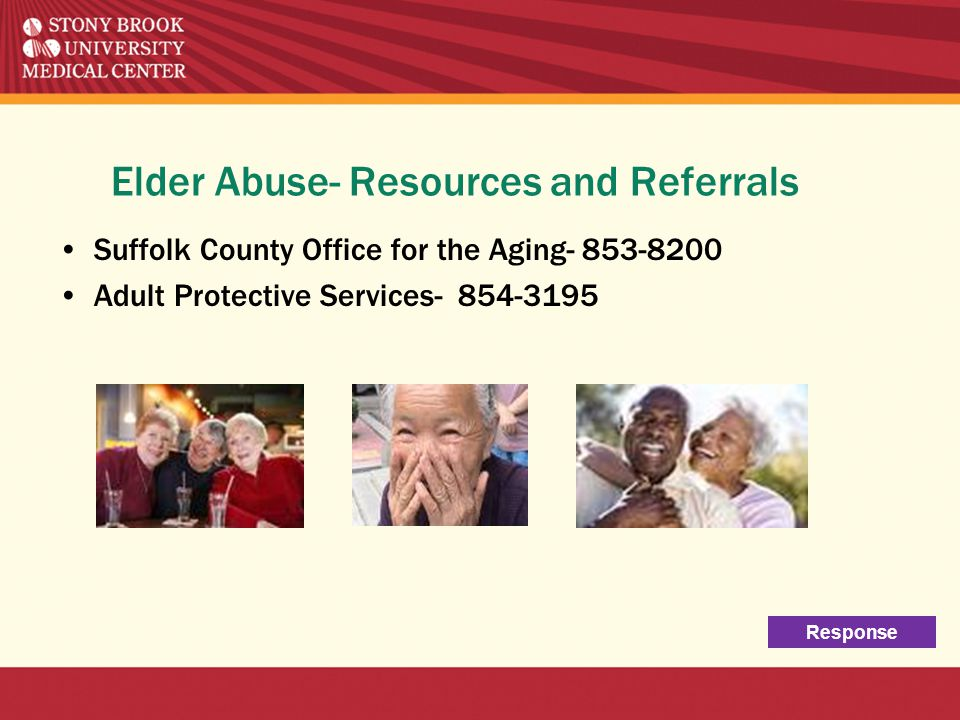Elder Abuse- Resources and Referrals