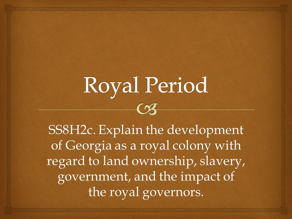 Royal Period