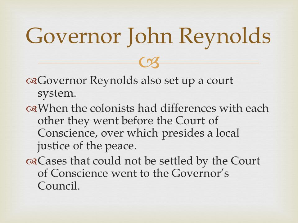 Governor John Reynolds